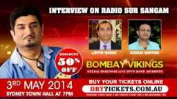 Radio Interview by Nitin Madam Radio SurSangam - Neeraj Shridhar - Bombay Vikings 2014 Sydney Concert