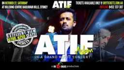 Red Chillies Media - Atif Aslam Live In Concert Sydney 2018