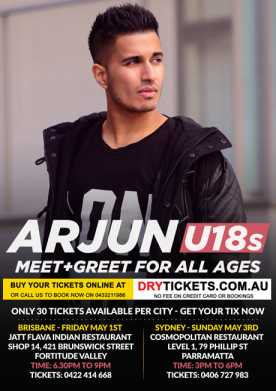 Arjun Live In Brisbane under 18s