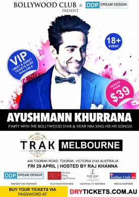 Party with Ayushmann Khurrana In Melbourne
