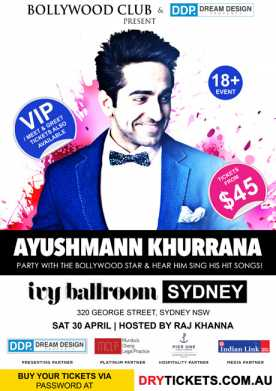 Party with Ayushmann Khurrana In Sydney