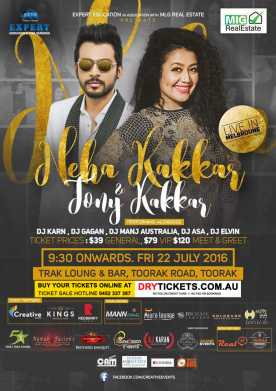 Neha Kakkar Performing Live in Melbourne