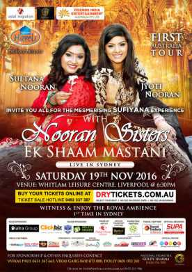 Ek Shaam Mastani with Nooran Sisters