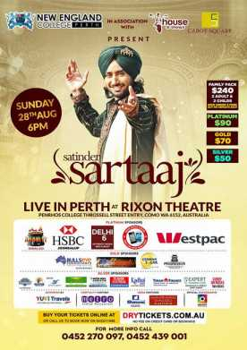 Satinder Sartaaj Live In Perth 2016