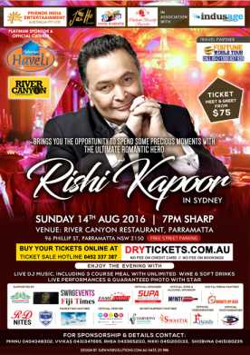 Rishi Kapoor Meet & Greet in Sydney