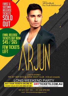 Arjun Live in Sydney 2016