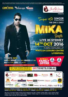 Mika Singh Live In Sydney 2016