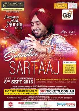 Satinder Sartaaj Live In Canberra 2016