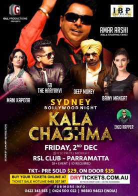 Sydney Bollywood Night - KALA CHASHMA