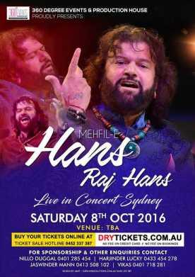 Mehfil-E Hans Raj Hans Live In Concert Sydney