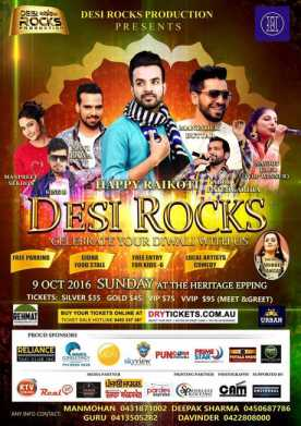 Desi Rocks Once Again 2016 - Live In Melbourne