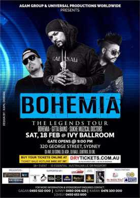 The Legend Bohemia Live In Sydney 2017