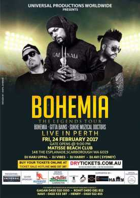 The Legend Bohemia Live In Perth 2017