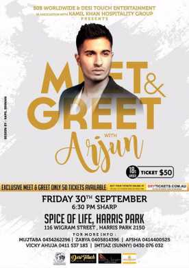 Meet & Greet Arjun In Sydney Under 18s 2016