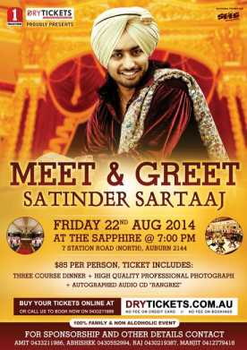 Meet & Greet with Satinder Sartaaj 2014
