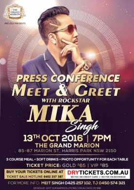 Meet & Greet with Rockstar Mika Singh In Sydney