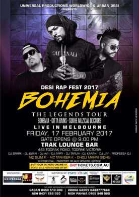 The Legend Bohemia Live In Melbourne 2017