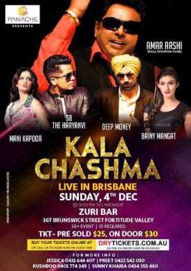 Kala Chashma Live In Brisbane 2016
