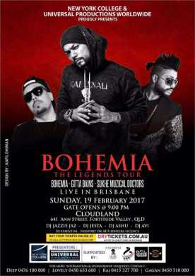 The Legend Bohemia Live In Brisbane 2017