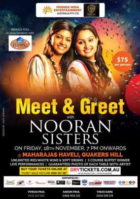 Meet & Greet with Nooran Sisters In Sydney
