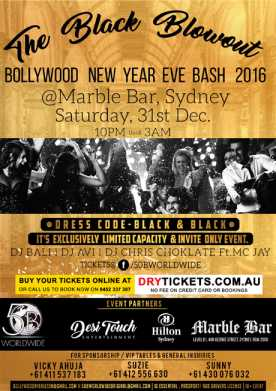 The Black Blowout Bollywood NYE Bash 2016