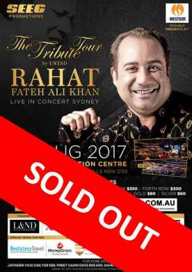 The Tribute Tour by Ustad Rahat Fateh Ali Khan In Sydney 2017