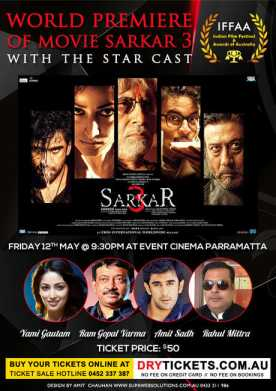 World Premiere of Movie Sarkar 3 In Sydney