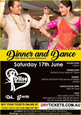 Dinner and Dance - Bollywood Party In Sydney