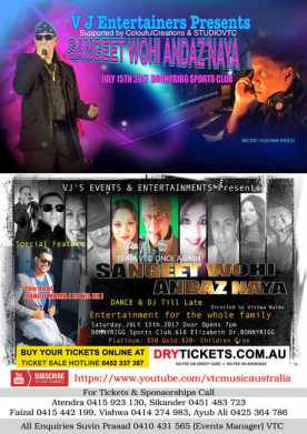 Sangeet Wohi Andaz Naya Live In Sydney 2017