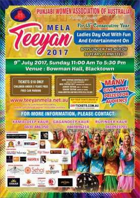 Teeyan Mela 2017 In Sydney