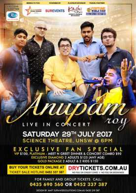 Anupam Roy Performing Live With Full Band & Shwapnil Shojib Live In Sydney