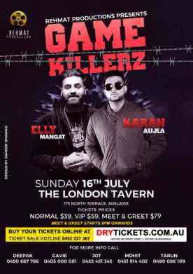 GAME KILLERZ - Elly Mangat In Adelaide