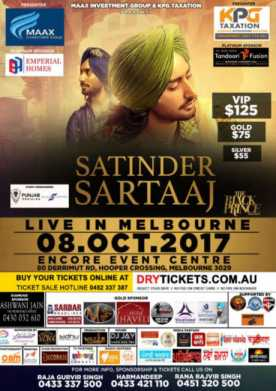 The Black Prince Tour - Satinder Sartaaj Live In Melbourne 2017