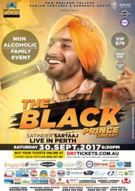 The Black Prince Tour - Satinder Sartaaj Live In Perth 2017
