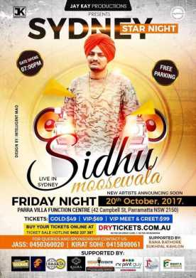 Sydney Star Night - Sidhu Moose Wala Live