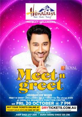 Meet n Greet With Harbhajan Mann In Sydney