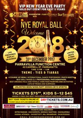 NYE Royal Ball - Welcome 2018