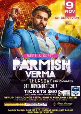 Meet & Greet - Parmish Verma In Sydney