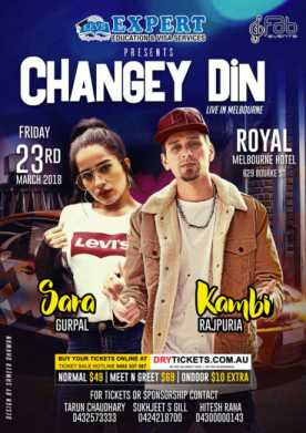 Changey Din Live In Melbourne