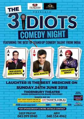 The 3 Idiots Comedy Night In Melbourne
