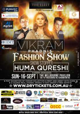 Vikram Phadnis Fashion Show In Melbourne