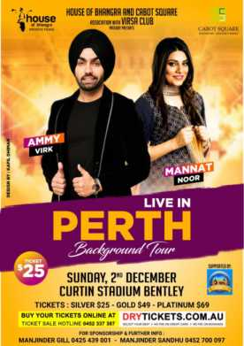 Background Tour By Ammy Virk & Mannat Noor In Perth