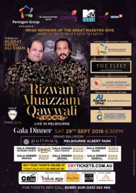 Tribute to Nusrat Fateh Ali Khan by Rizwan-Muazzam In Melbourne