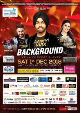 Background Tour By Ammy Virk & Mannat Noor In Sydney