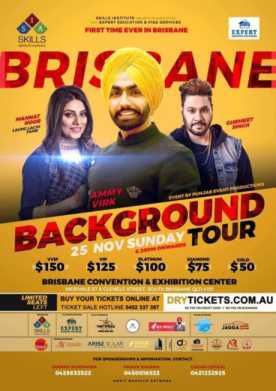 Background Tour By Ammy Virk & Mannat Noor In Brisbane