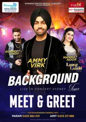 Background Tour 2018 - Meet & Greet Sydney