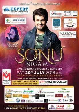Sonu Nigam Live In Concert Sydney with Full Band 2019