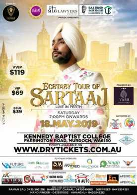 Ecstasy Tour Satinder Sartaaj Live In Perth 2019