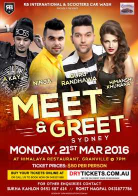 Meet & Greet with Punjabi Young Sensation