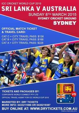 Sri Lanka vs Australia Cricket World Cup 2015